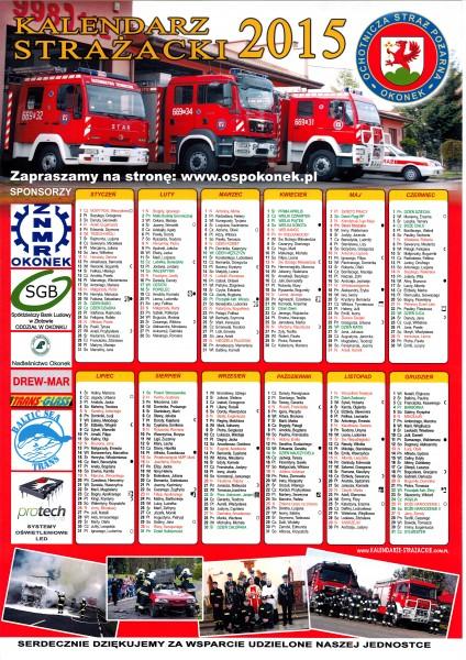kalendarz strażacki 2015 osp okonek maly